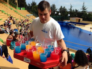 Kids first ever slush puppies (and dolphin show!)