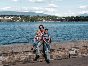 At the lake in Geneve